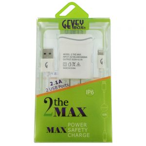 2 The Max Lightning 2.1A 5Ft Cable Home Changer