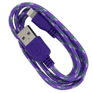 Braided 3' Cable- 8 pin PURPLE
