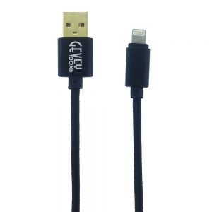 Braided Metal 5Ft Cable- 8 pin BLACK