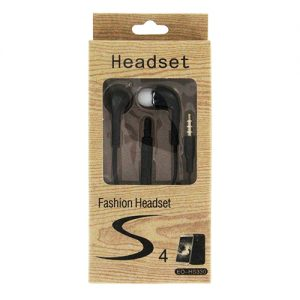 Fashion S4 Earbuds with Remote & Mic- BLACK [EO-HS330]