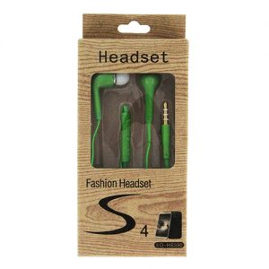 Fashion S4 Earbuds with Remote & Mic- GREEN [EO-HS330]