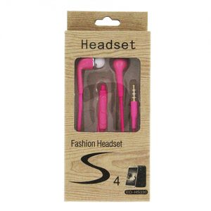Fashion S4 Earbuds with Remote & Mic- PINK [EO-HS330]