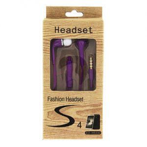 Fashion S4 Earbuds with Remote & Mic- PURPLE [EO-HS330]