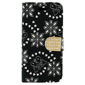 Flip snap Wallet case for iPhone 6 Plus Black