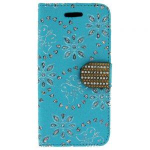 Flip snap Wallet case for iPhone 6 Plus Blue