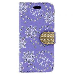 Flip snap Wallet case for iPhone 6 Plus Purple