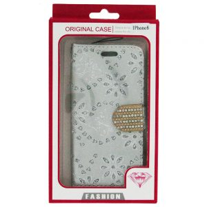 iPhone 6 6S Bling Diamond Wallet Case Sil
