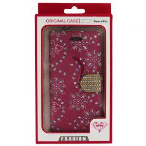 iPhone 6 6S Plus Bling Diamond Wallet Case Pk
