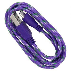 Braided 3' Cable- Micro PURPLE