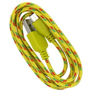 Braided 3' Cable- Micro YELLOW