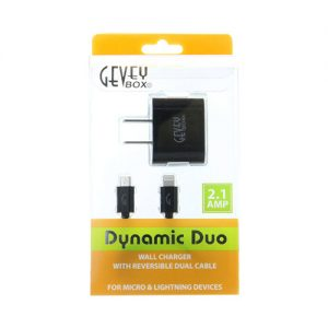 Dynamic Duo Home (Reversible i6 and Micro Cable) - Bk