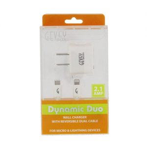Dynamic Duo Home (Reversible i6 and Micro Cable)- Wht