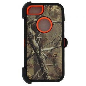 Warrior Camo Case for iPhone 5 5S SE - BK/ORG