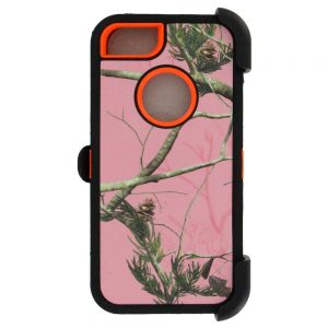 Warrior Camo Case for iPhone 5 5S SE - PNK/ORG
