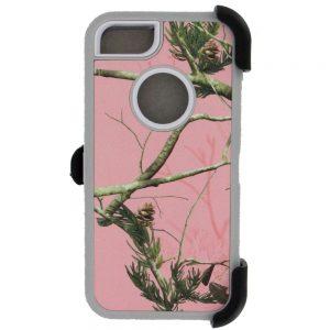 Warrior Camo Case for iPhone 5 5S SE - PNK/WHT