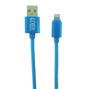 Braided Metal 5Ft Cable- 8 pin BLUE