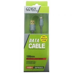 GeveyBox Braided 3' Metal Core Cable- 8pin SGray