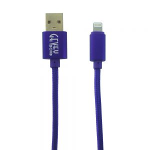 Braided Metal 5Ft Cable- 8 pin PURPLE