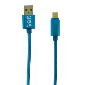Braided Metal 5Ft Cable- Micro BLUE